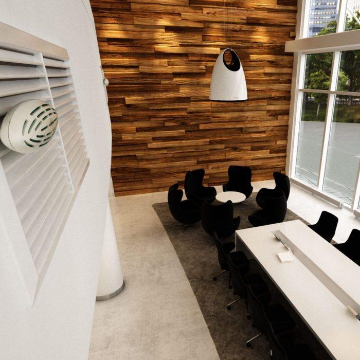 EcoShell ilmanraikastin toimistoon